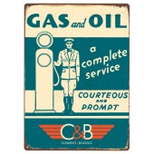 Rectangular 'Gas and Oil C&B' Sign - subsidised