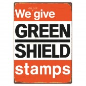 Rectangular 'We Don't give Green Shield' Sign