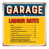 Joke 'Labour Rates' Sign