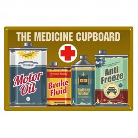 Rectangular 'Motorists Medicine Cupboard' Sign