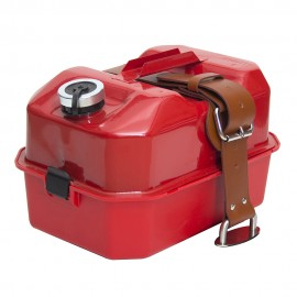 Period metal Explosafe Fuel can/Toolbox with Leather and Stainless fitments