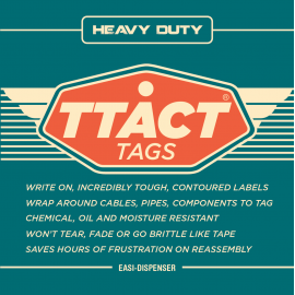 TTACT Tags loom & brake pipe labelling